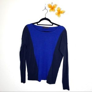 The Limited Blue Two-Tone Lightweight Sweater